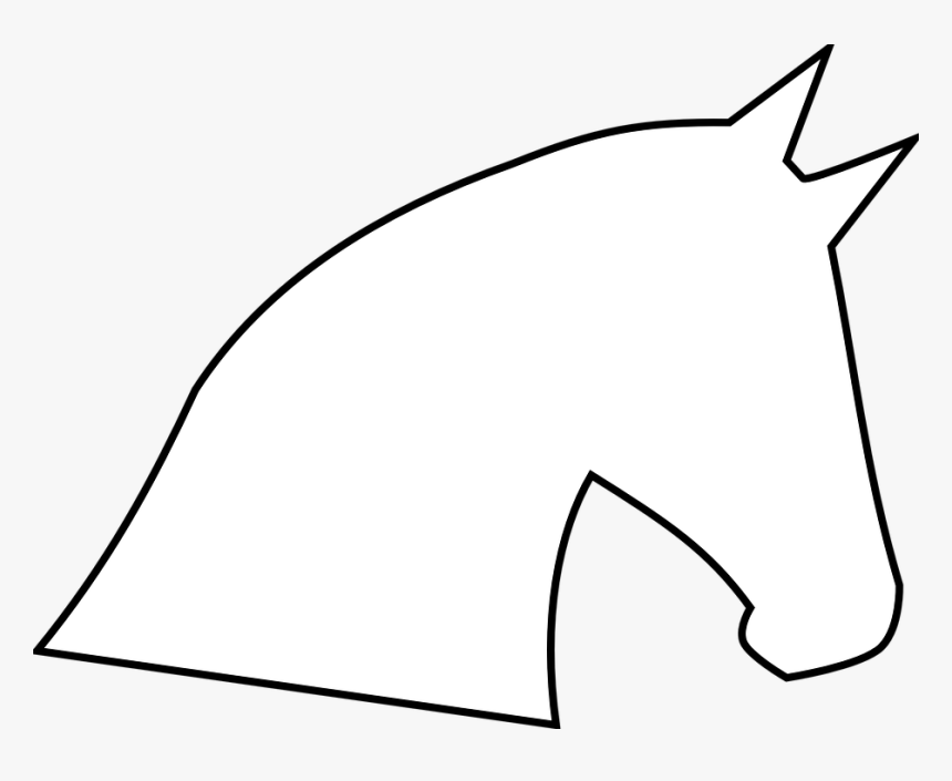 Horse Head Horse Head Outline Profile Silhouette White Horse Head Silhouette Hd Png Download Is Free Transparent Png White Horse Horse Head Horse Party