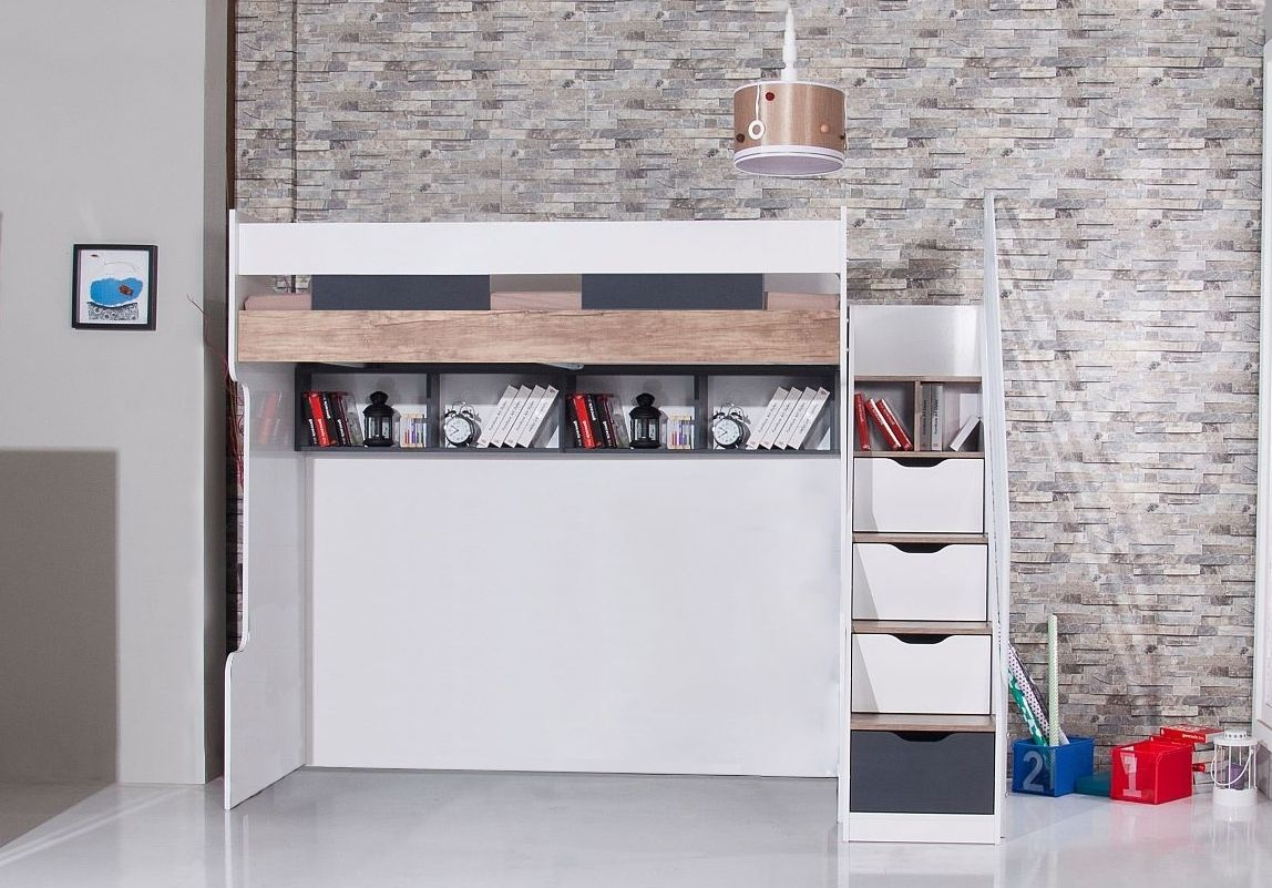 Compact hoogslaper luxe stapelbed wit stapelbed witte