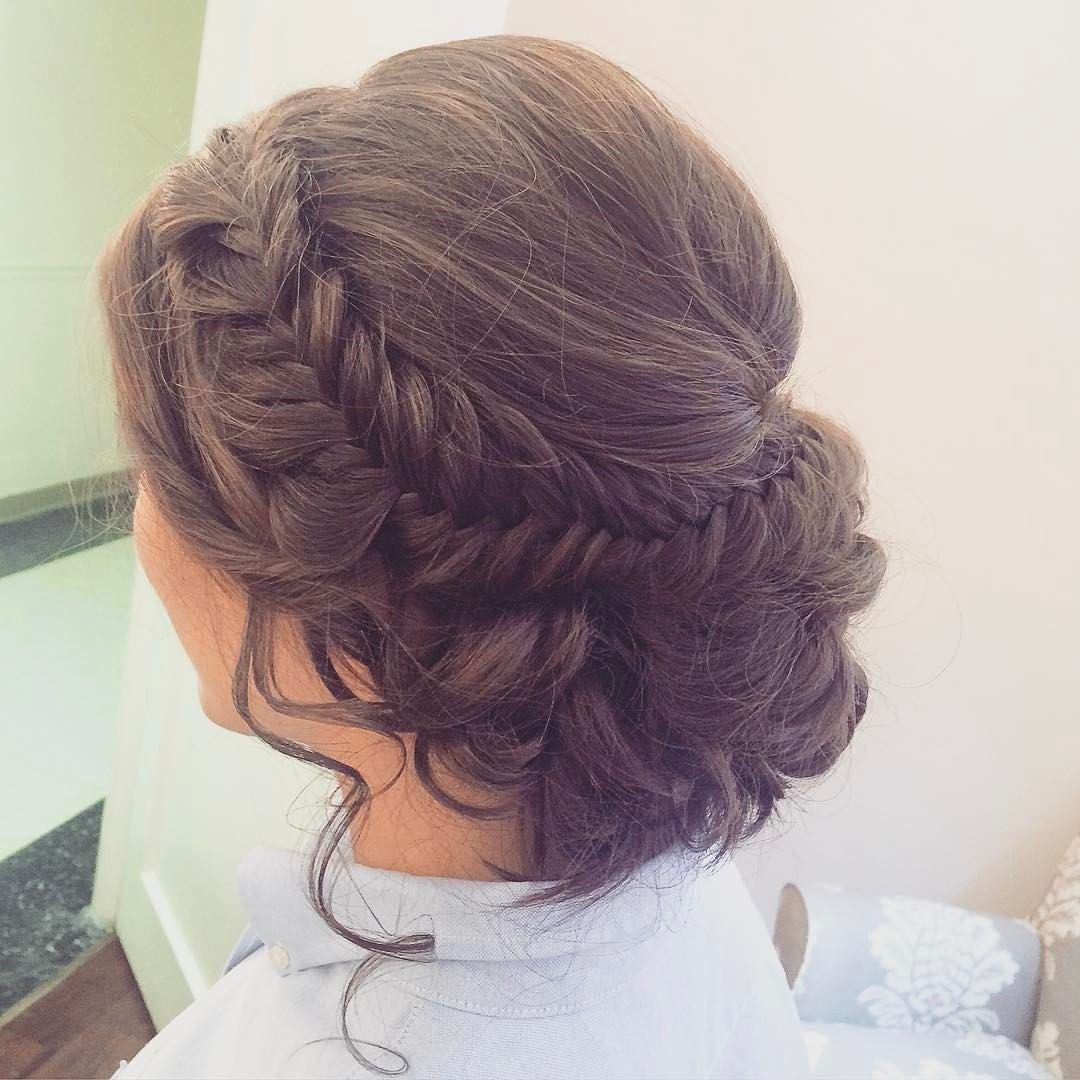 Fishtail Braid Wedding Hairstyles: See This Instagram Photo By @hairandmakeupbyemilyh