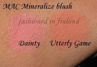 mac dainty & mac utterly game, mineralize blushes Fashioned in Finland: MAC Leopard Luxe FOTD & Utterly Game blush