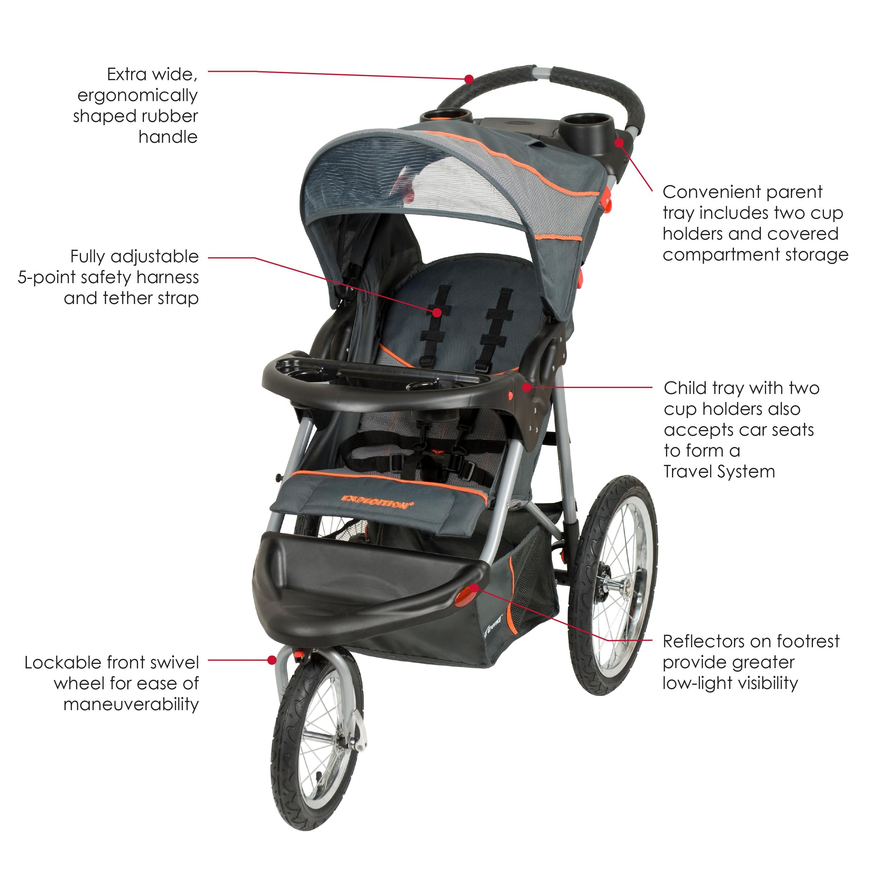 Amazon Baby Trend Expedition Jogger Stroller Phantom 50 Pounds Baby