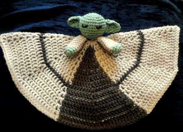 Yoda Jedi Plush Blanket Geeky Crochet Dolls Crochet