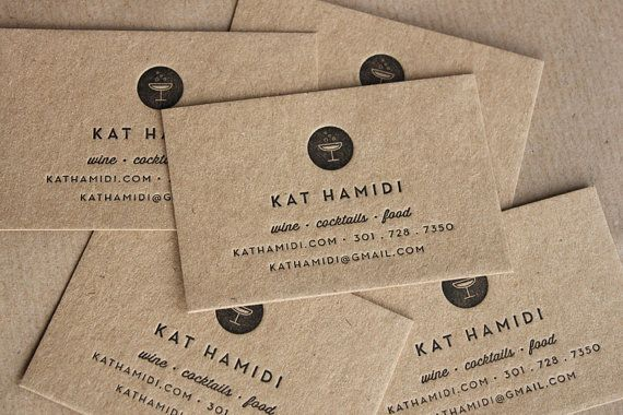 kraft paper business cards