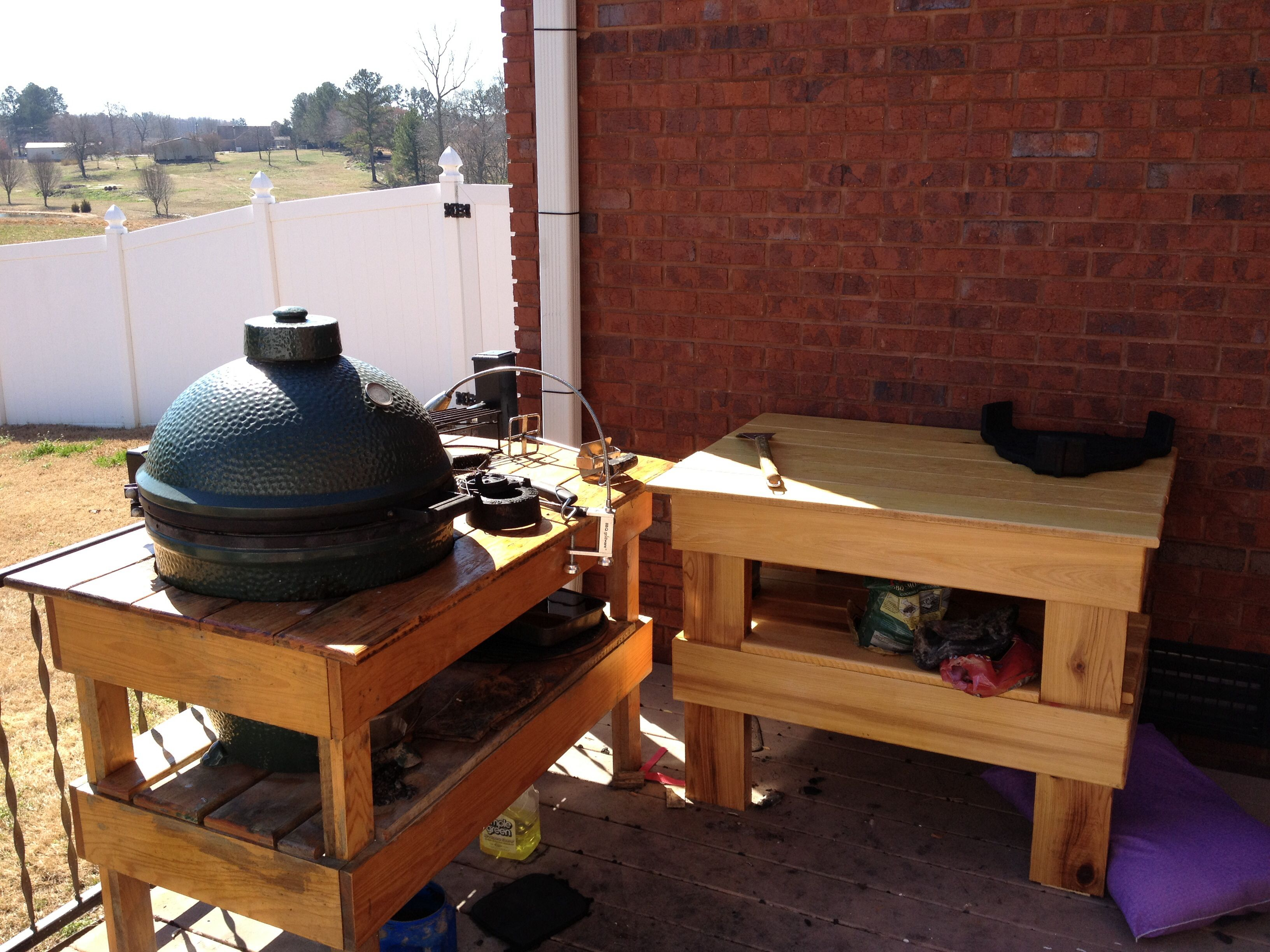 cypress wood grill table hobbies pinterest grill table