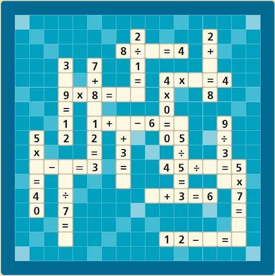 Crucigrama matemático | Educación | Pinterest | Math, Worksheets and ...
