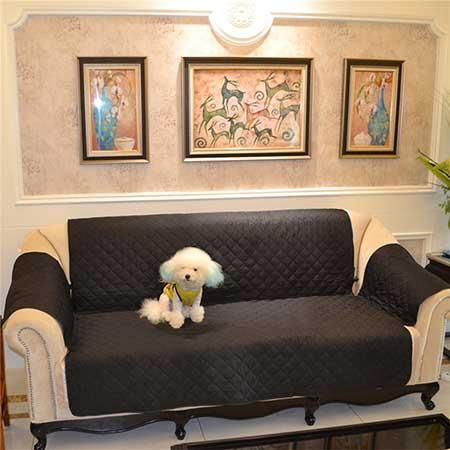 Three Seater Multi Seater Sofa Slipcover Protector Cover Suede Pet Dog Couch  Sofa Scratch