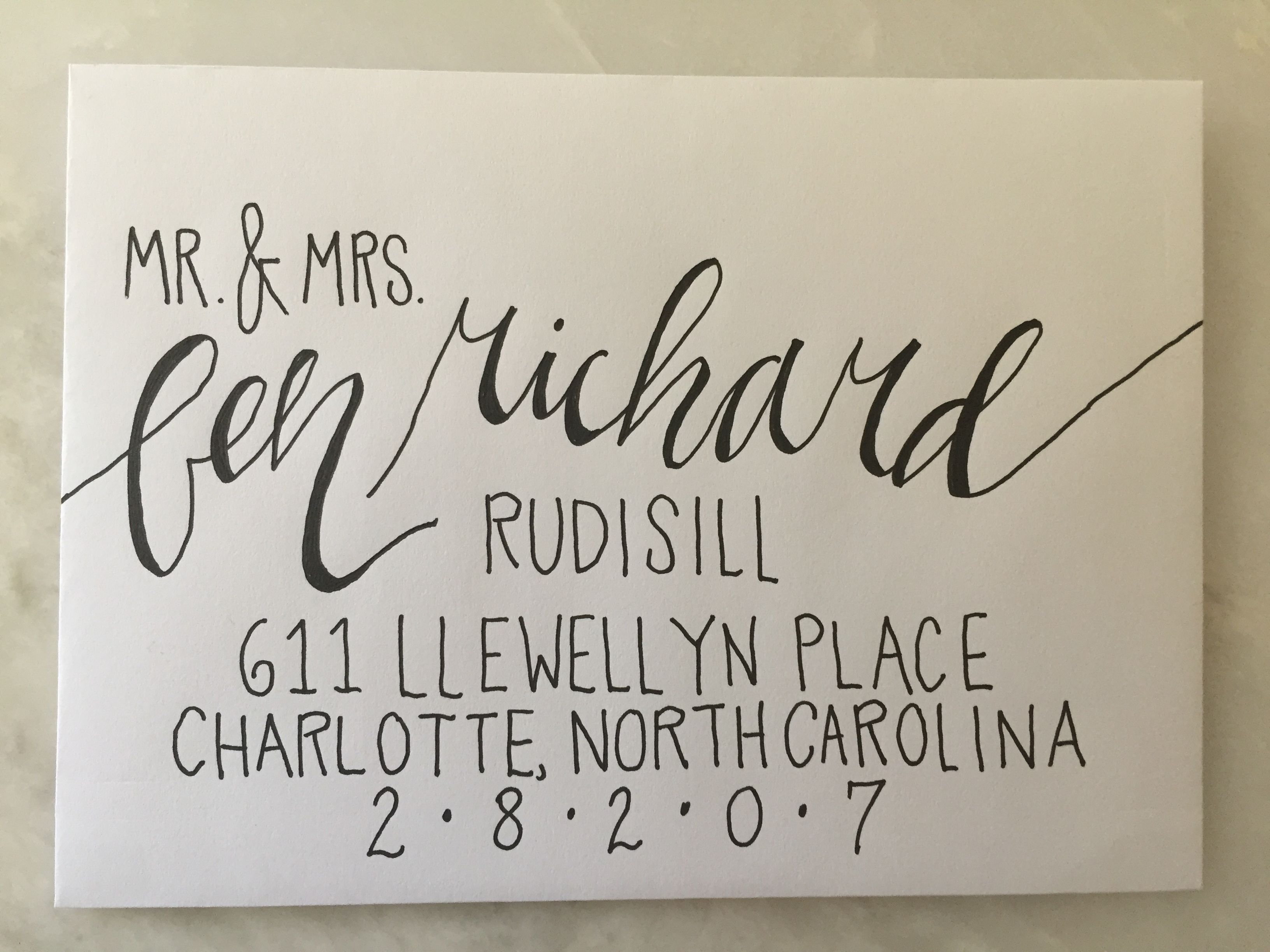 hand addressed envelopes for your invitations or announcements
