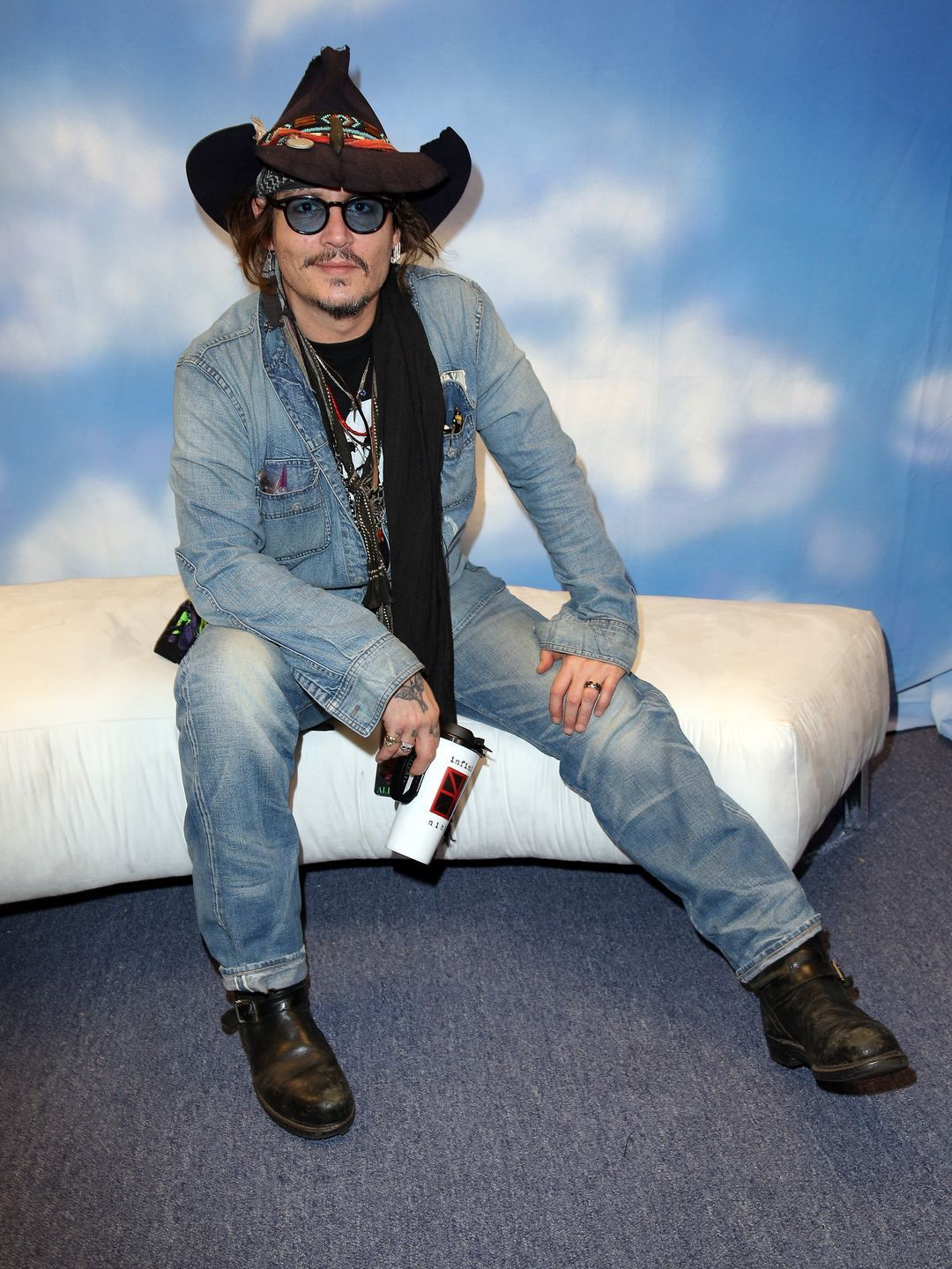 Johnny Depp attends the GRAMMY Gift Lounge during The 58th GRAMMY ...