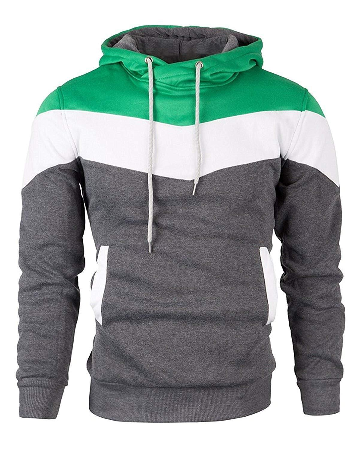 44f045b1 Mooncolour Mens Novelty Color Block Hoodies Cozy Sport Outwear ...