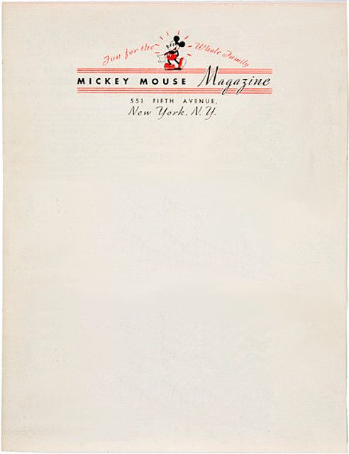 Amazing And Legendary Letterhead Designs  Mickey Mouse Mice