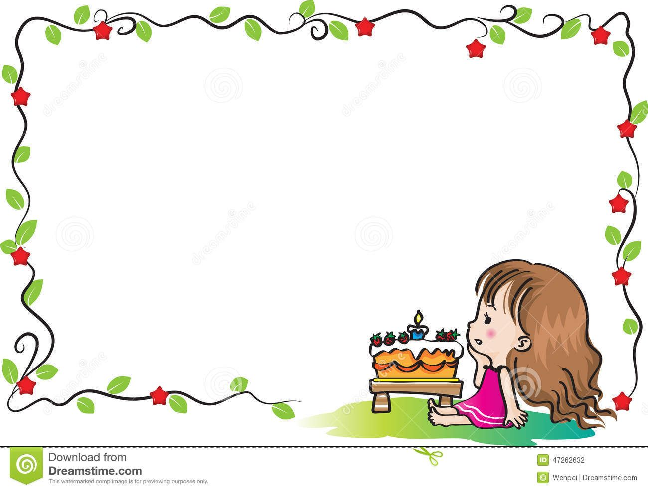 Happy birthday card border frame vector drawing cartoon 47262632 happy birthday card border frame vector drawing cartoon bookmarktalkfo Image collections