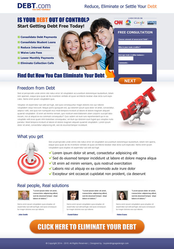 50 Clean And Effective Debt Relief Landing Pages Debt Debtfree Debtgame Debtrelief Debtsolution Debtrelie Debt Solutions Landing Page Landing Page Design