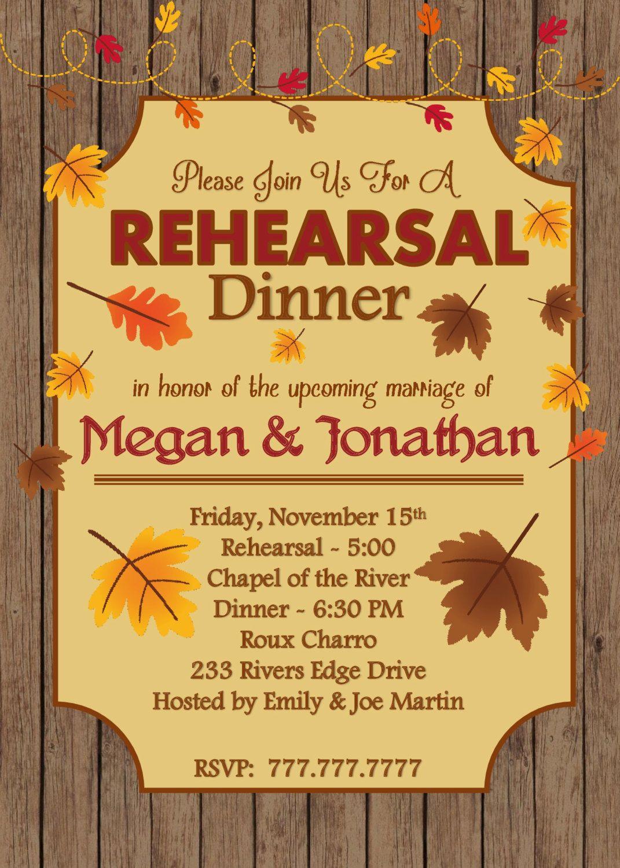 diy printable rehearsal dinner invite or fall invitation or generic