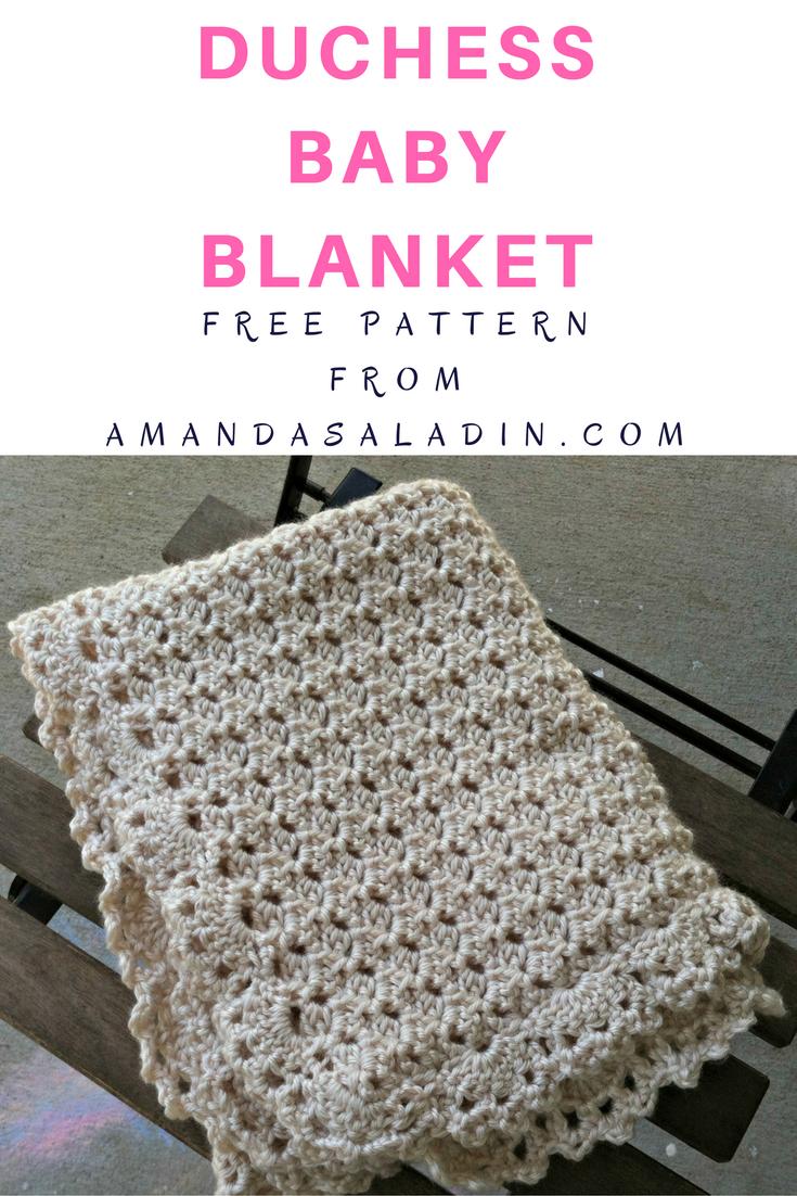 Duchess Baby Blanket - Free Crochet Pattern | Patrón libre ...