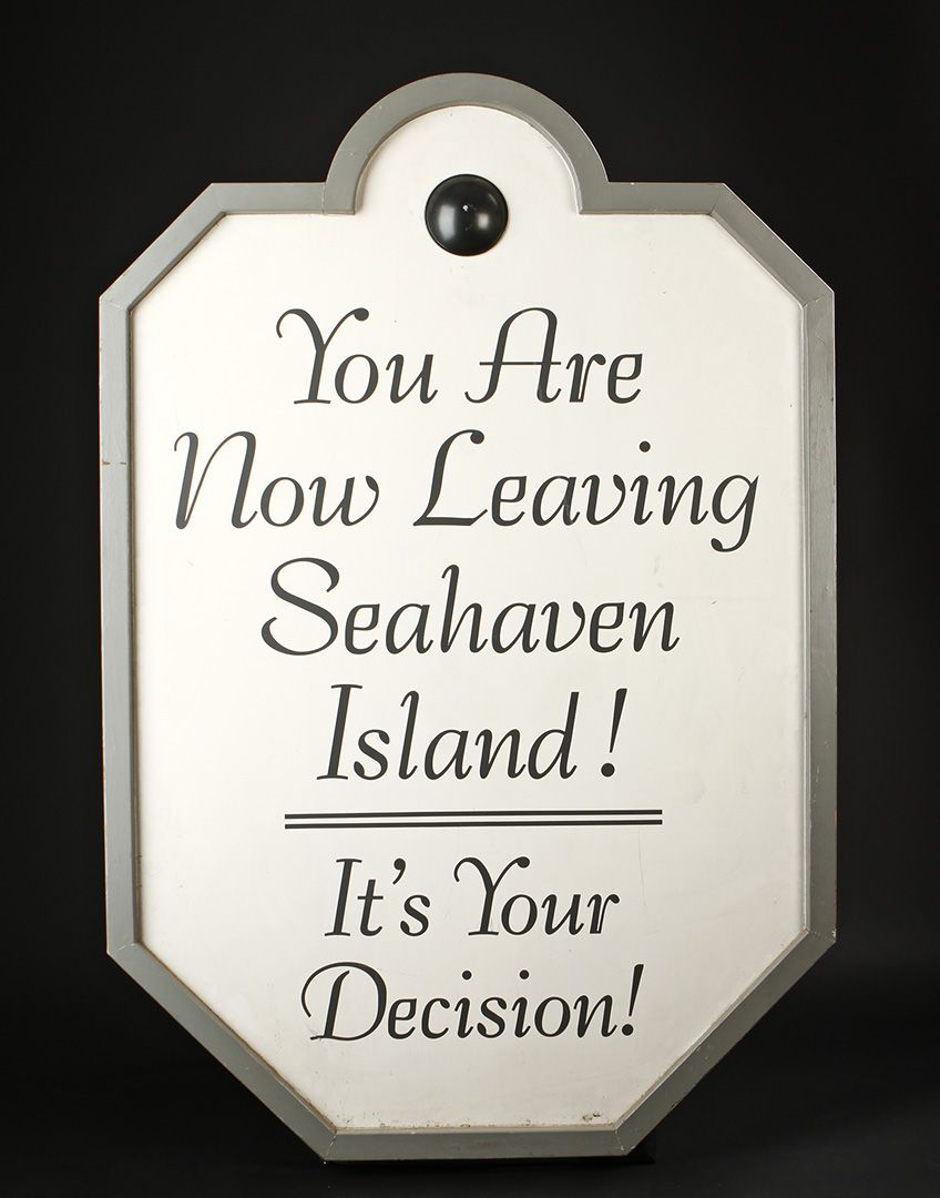 Production Made Seahaven Island Sign THE TRUMAN SHOW Movie Prop