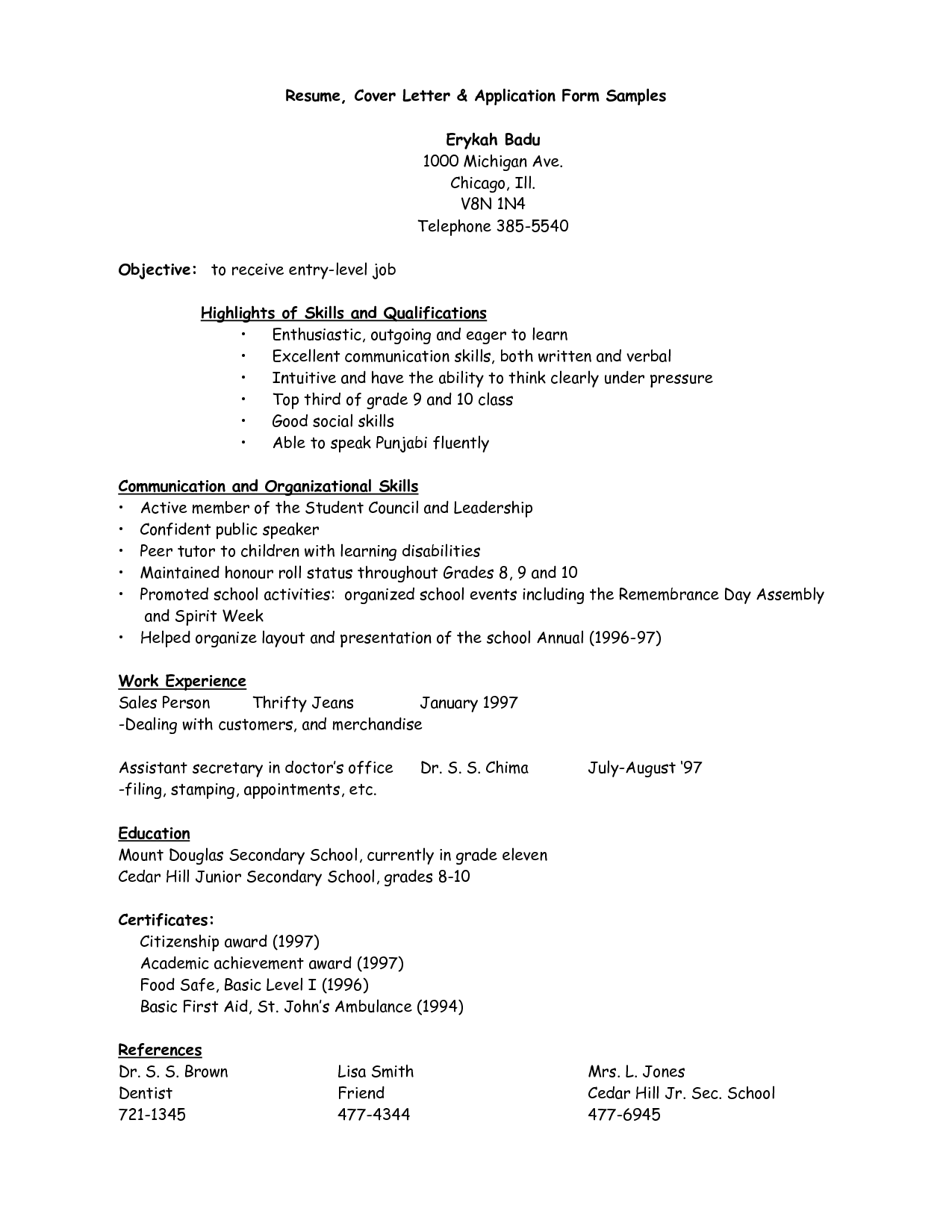 Job Resume Template Pdf Templates And Builder Letter Sample Pilot Trainee  Cover Letters For Writing Format