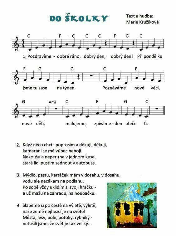 Pin by Jana Mariančíková on pisnicky | Preschool themes, Kids songs,  Exercise for kids