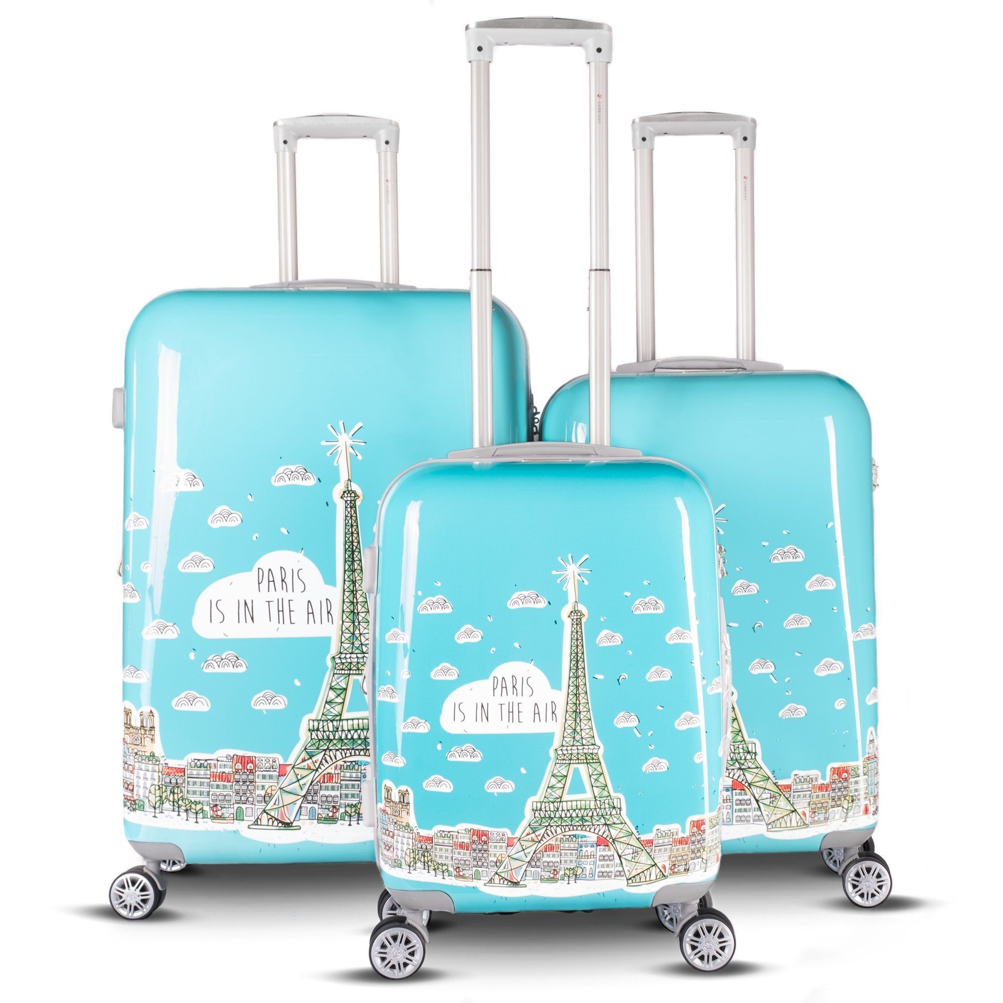 b98294b9c6f3 Gabbiano Luggage Paris Collection 3 Piece Expandable Hardside ...