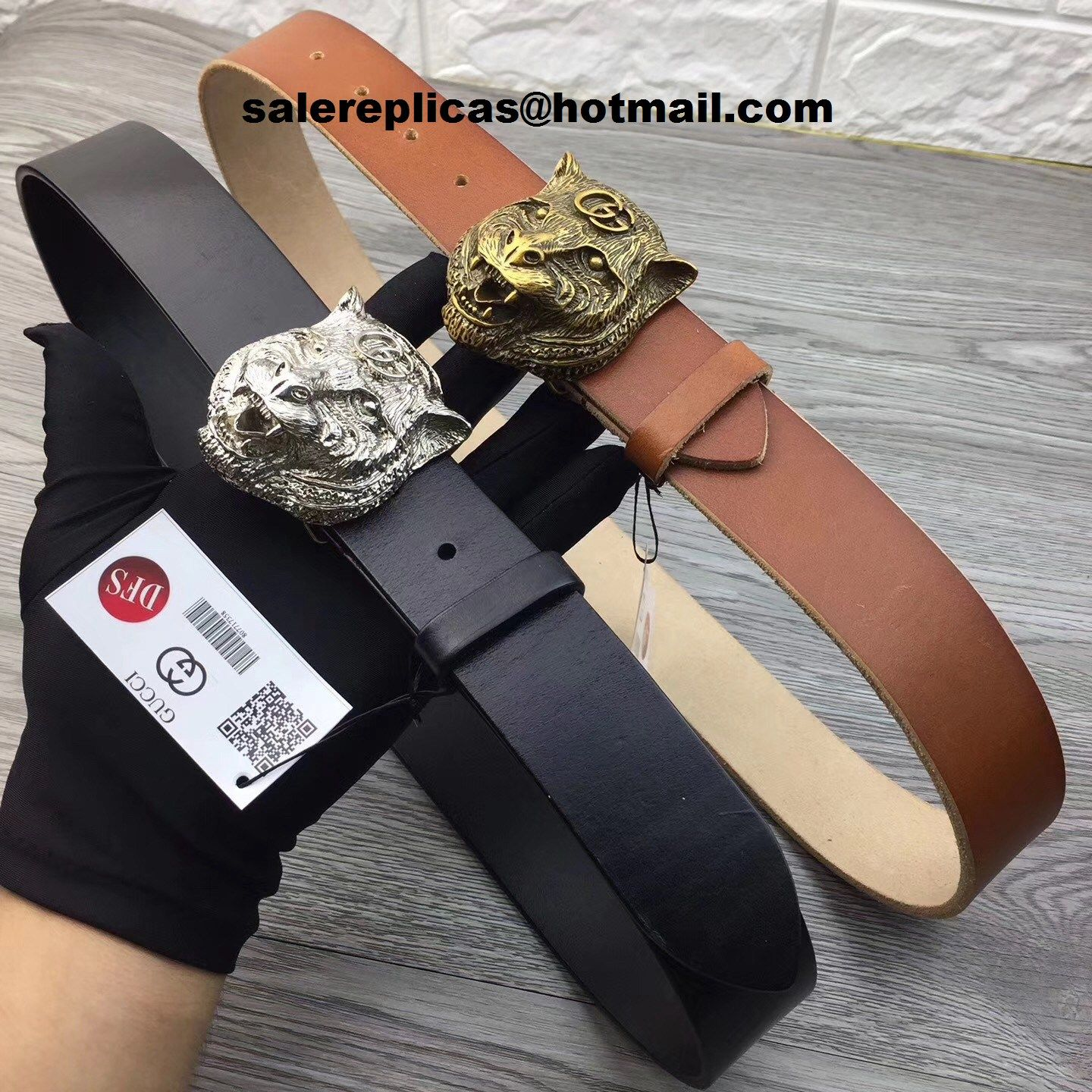 b0c68264f58 Fake Gucci feline head leather belt 451230  1