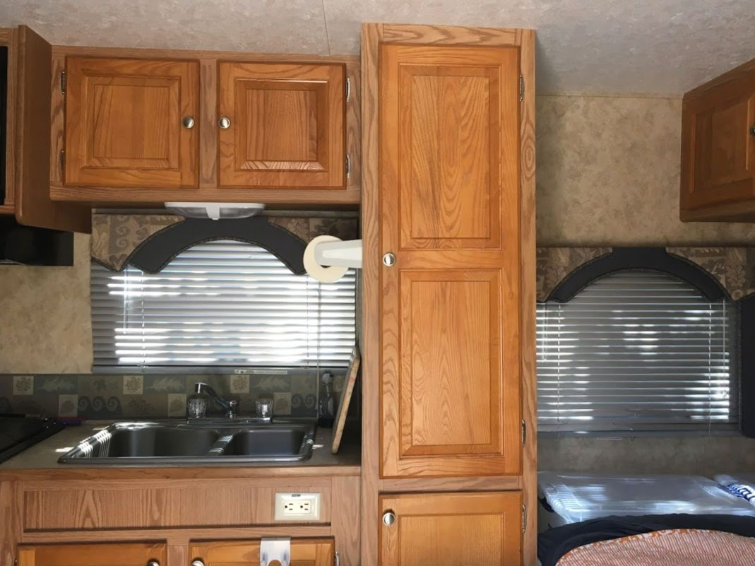 How to Paint Laminate Cabinets without Sanding   Painting ...