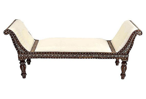 Peachy Beautiful Vintage Anglo Indian Chaise Lounge With Intricate Ncnpc Chair Design For Home Ncnpcorg