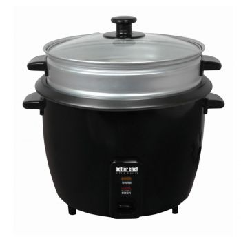 Better Chef 10 Cup 20 Cups Cooked Rice Cooker With Food Steamer