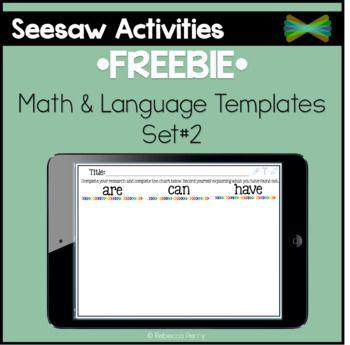 Seesaw Activities *FREEBIE* Set 2 Language & Math
