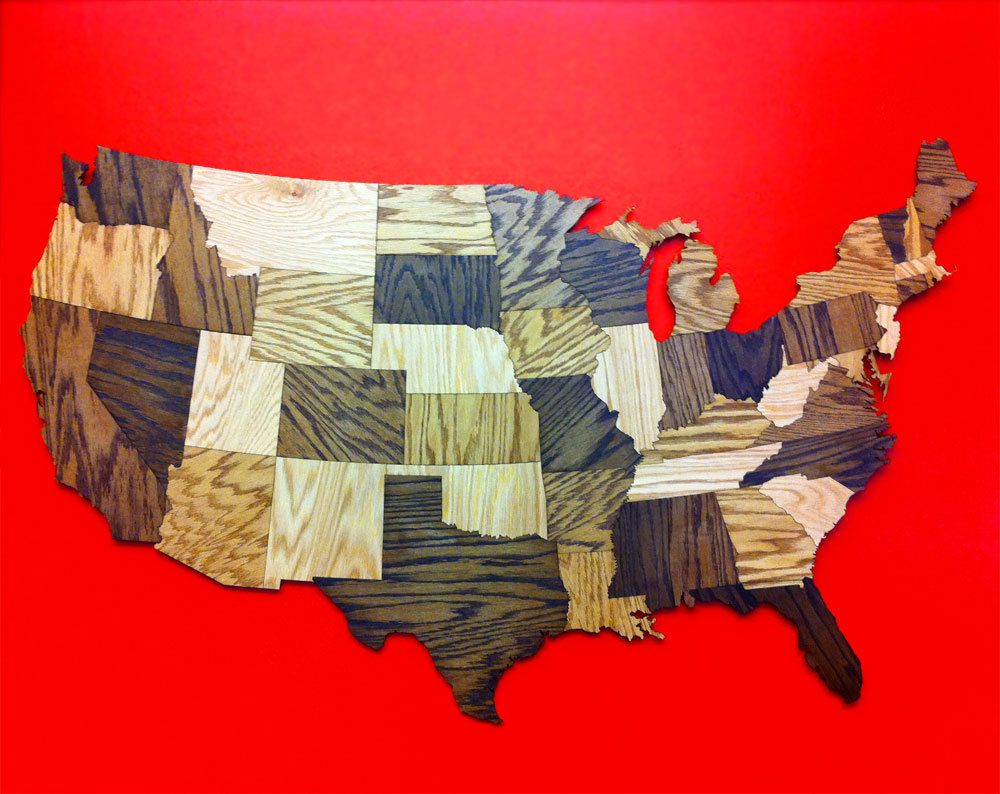HUGE 6' Wood USA Map Puzzle, Jigsaw Puzzle, Geography