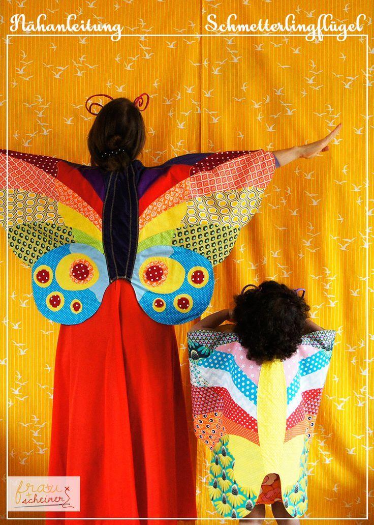 Kostüm Schmetterlings-Umhang | NÄHEN: meine Nähanleitungen und ...