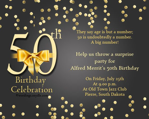 50Th Birthday Invitation Wording unitedarmyinfo