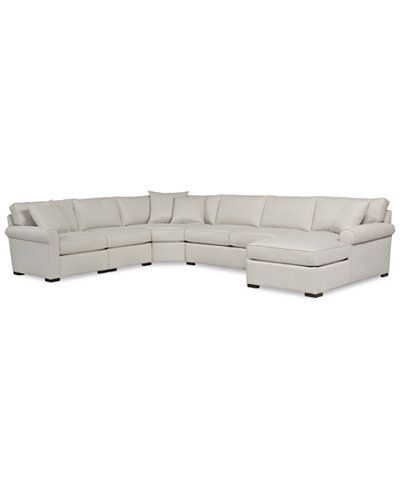 Astra 5Pc Sectional with Chaise Created for Macys Couch sofa