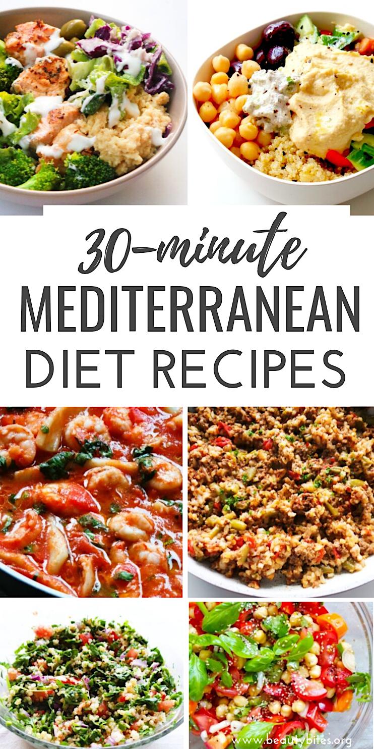 Photo of 30 mediterrane Diät-Rezepte, die 30 Minuten oder weniger dauern – Beauty Bites