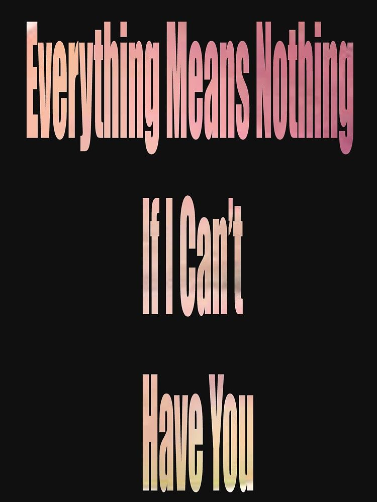 Everything Means Nothing If I Can T Have You Shawn Mendes Quote By