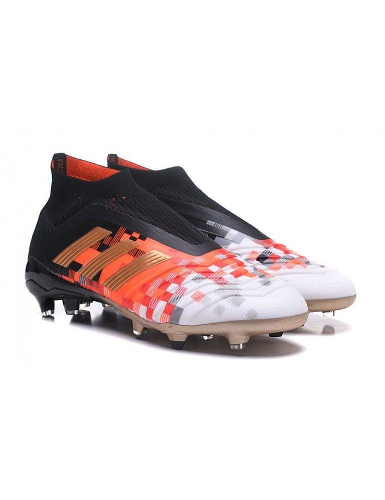 d3ea5dffe7f05 Zapatillas De Futbol Adidas Niño - Adidas Niños Predator Telstar 18+ FG -  Negro