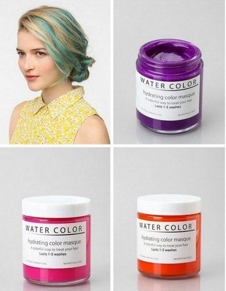 Colorful Hair Lips Nails Metamorphosis Watercolour Hair