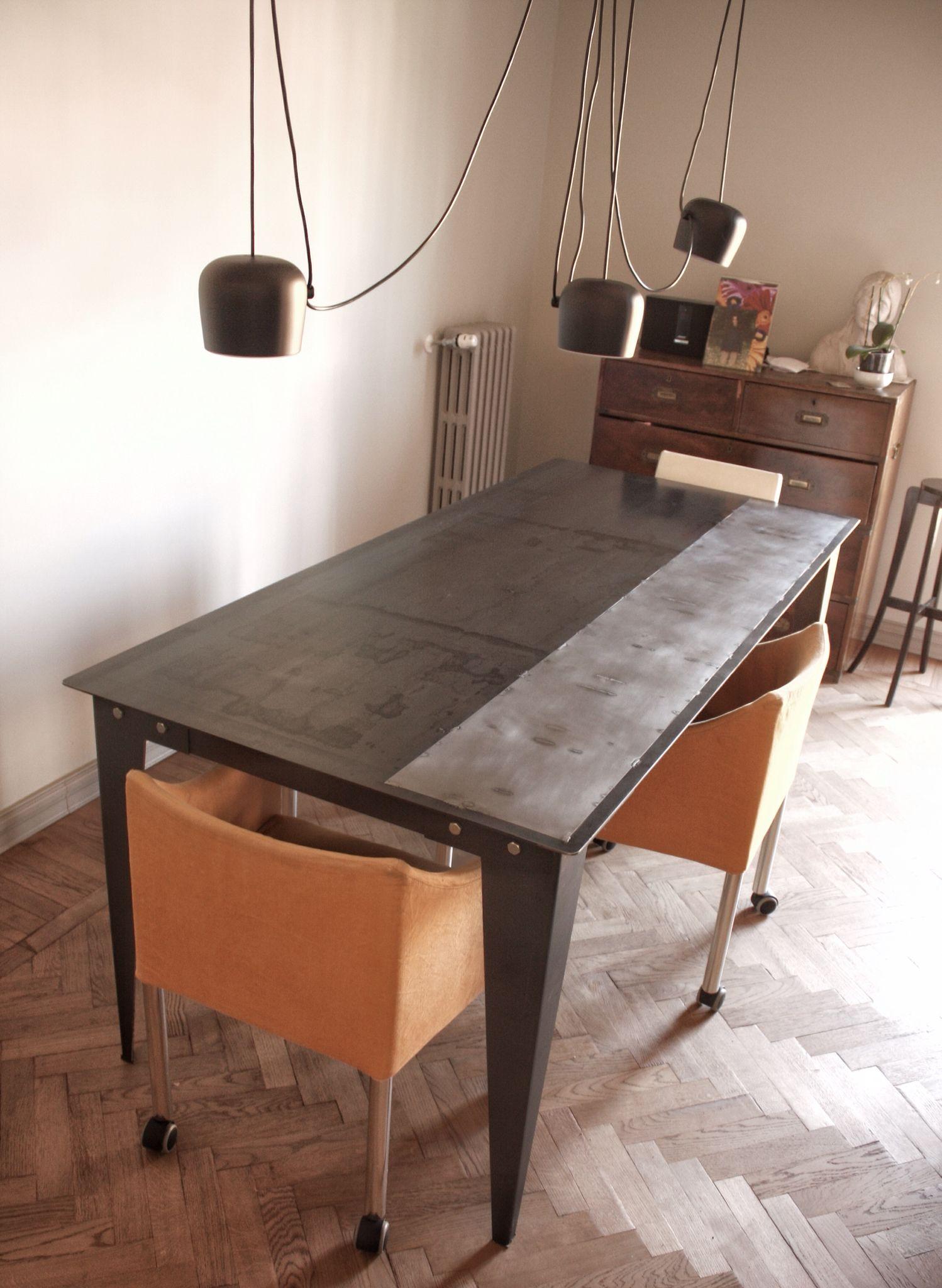 Tavolo in ferro stile industrial   Tavolo ferro ...
