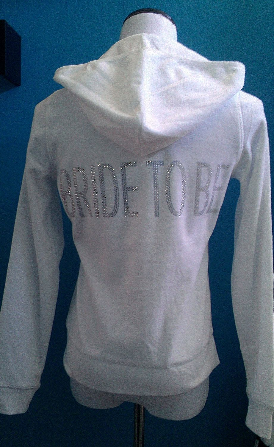 Bride To Be Sweatsuit Two Piece White Velour