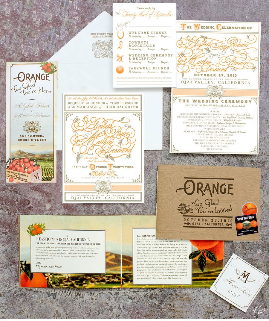 Orange You Glad? Our Muse - Elegant Orchard Wedding in Ojai - Be ...