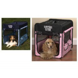 Portable Soft Sided Dog Crate Pink Or Blue Soft Sided Dog Crate