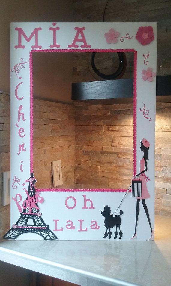 Barbie in Paris Photo Booth Frame- OH LA LA | Pinterest | Dias ...