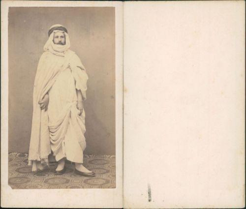 Algerie Occidental Deguise En Arabe Vintage CDV Albumen Carte De Visite