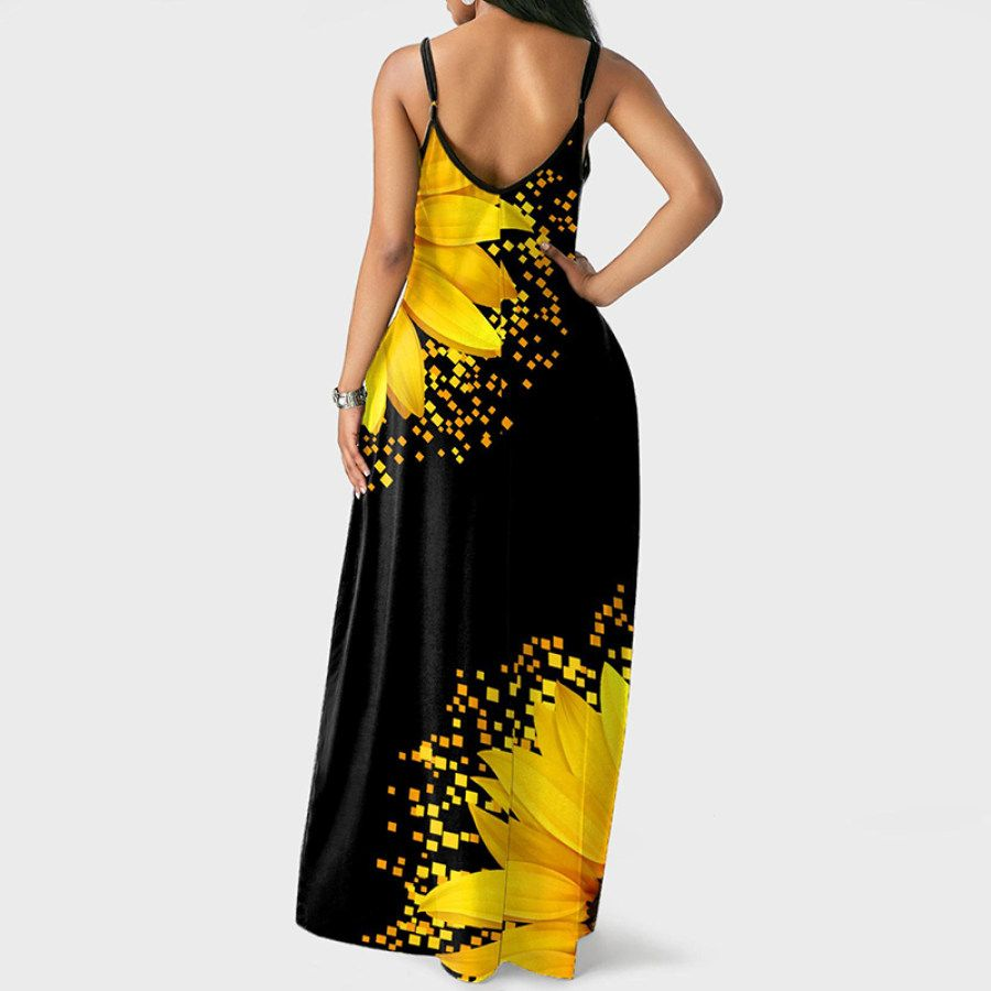Fashion Loose Sleeveless V Neck Strap Dress Ootdmw Com In 2021 Pocket Maxi Dress Maxi Dress Floral Print Maxi Dress [ 900 x 900 Pixel ]