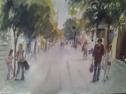 Pintar acuarelas: Más calles