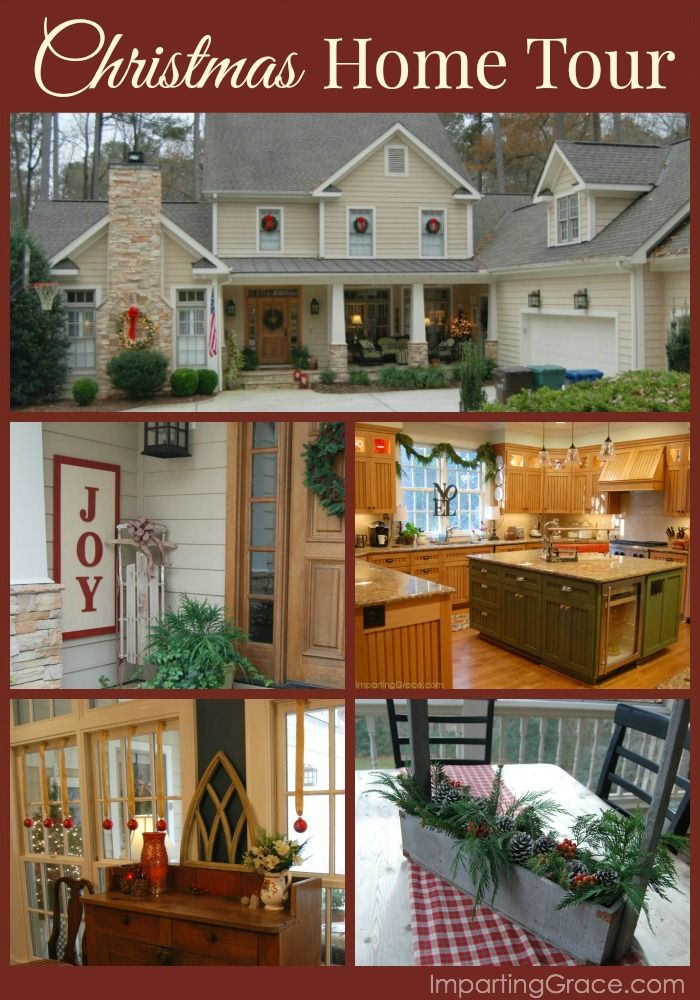 Lots of DIY projects and beautiful traditional Christmas decor at ImpartingGrace.com