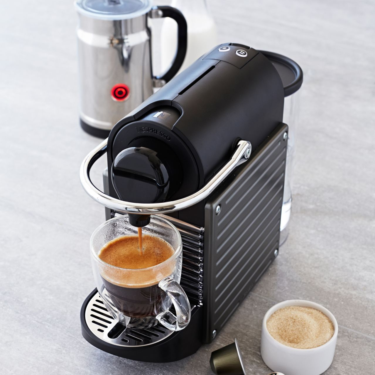 Nespresso® Pixie and Aeroccino Plus Milk Frother Set