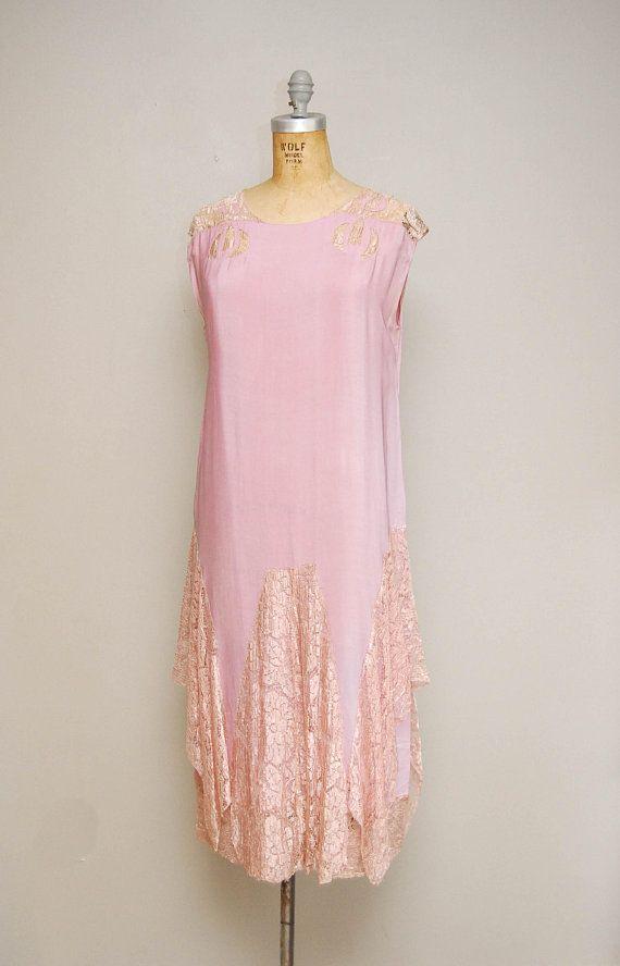 Vintage 20s Pale Purple Silk Slip Dress / 1920s Sleeveless Silk + ...