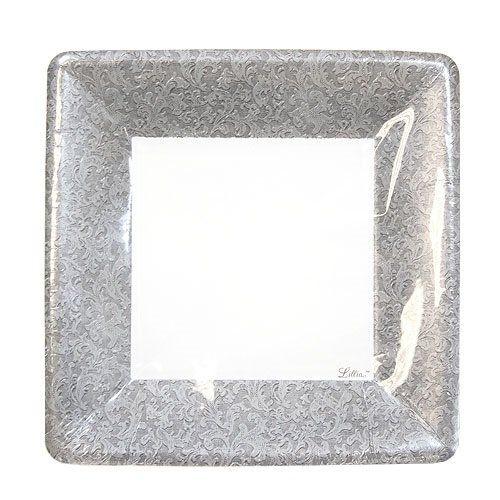 awesome Lillian Tablesettings 24-Piece Square Paper Plates Set 7-Inch Silver  sc 1 st  Pinterest & awesome Lillian Tablesettings 24-Piece Square Paper Plates Set 7 ...