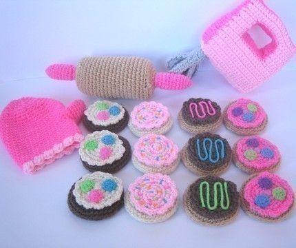 Play Food Crochet Pattern -- Baking Cookies Play Set | Crochet ...
