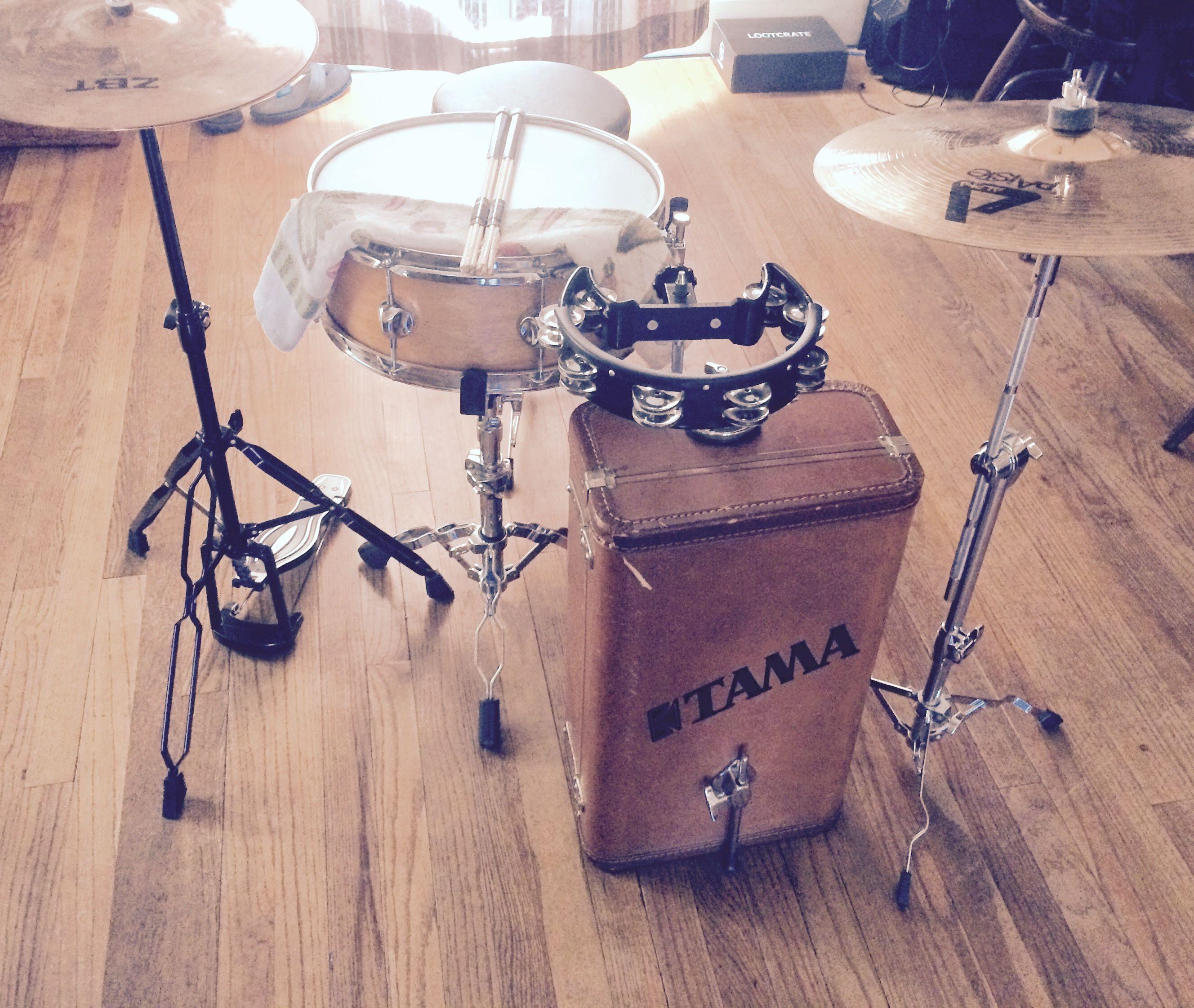 suitcase drumset, diy drum set, upcycle, Drum set