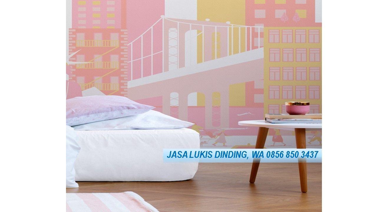 Jasa Lukis Dinding Hello Kitty Telp 0856 850 3437 Khusus Untuk Anda Lukisan Dinding Kamar Anak Dinding Lukisan dinding kamar anak